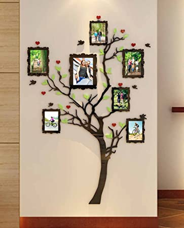 Acrylic Wall Stickers 3D Crystal Wall Decals- Family Tree with Frames ( Small)  sc 1 st  Amazon.com & Amazon.com: Acrylic Wall Stickers 3D Crystal Wall Decals- Family ...