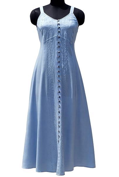 8e4869a7b94 HolyClothing Naveen Gypsy Gothic Empire Waist Beach Maxi Sun Dress -  2X-Large - Hydrangea