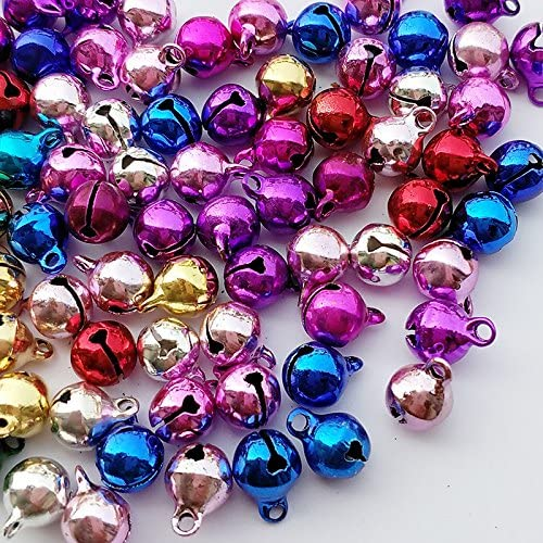 Chenkou Craft Copper 50pcs for Christmas Fashion Jingle Bell for DIY Bracelet Anklets Necklace Knitting Jewelry Making Accessories 12mm