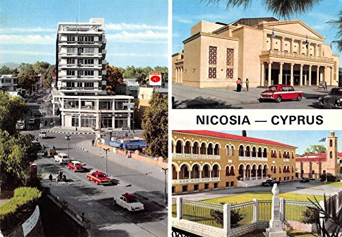 nicosia-cyprus-theatre-metaxas-square-church-vintage-postcard-j25849
