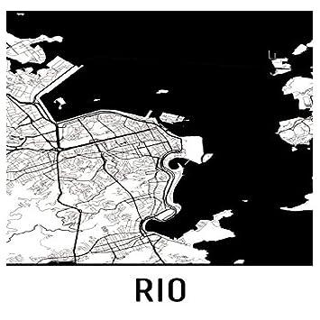 Rio Print, Rio Art, Rio Karte, Rio Brasilien, Rio Poster ...
