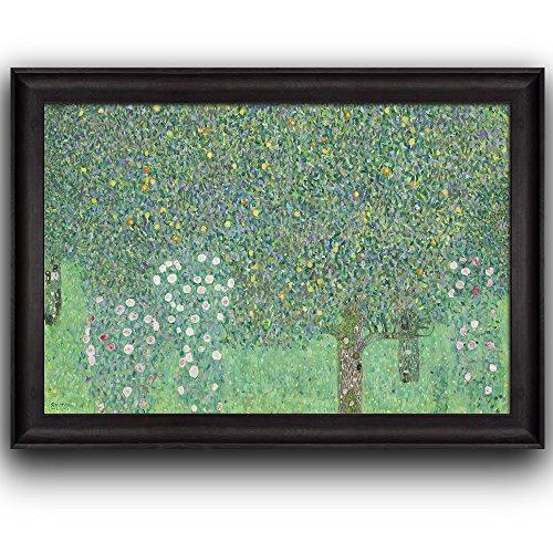 Rosebushes Under the Trees by Gustav Klimt Framed Art