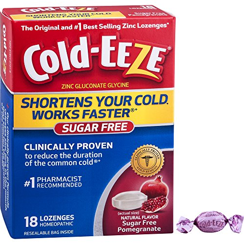 Cold-EEZE Zinc Gluconate Lozenges-Sugar Free Pomegranate-3.5oz-18 ct - The original and #1 best-selling zinc lozenges