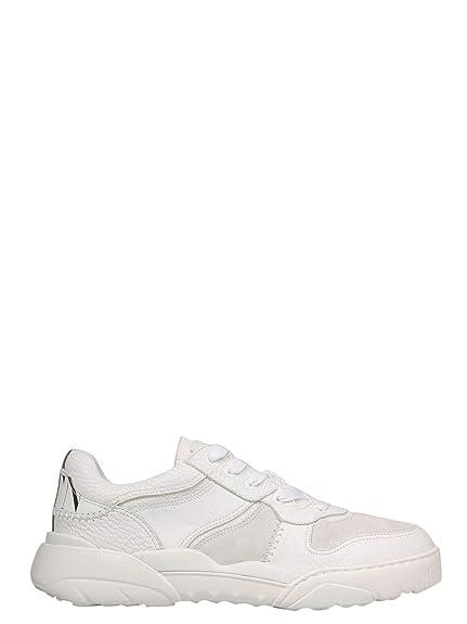 Valentino Hombre RY2S0B78ESC0BO Blanco Cuero Zapatillas: Amazon.es: Zapatos y complementos
