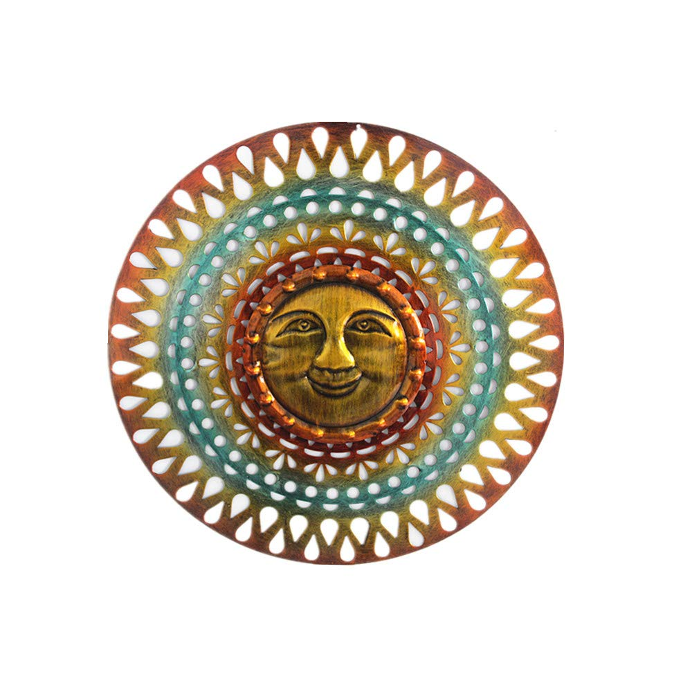 Metal Sun Sculpture Sun face Wall Art Hanging 2019 New Unique DIY for Indoor Outdoor Home Decoration