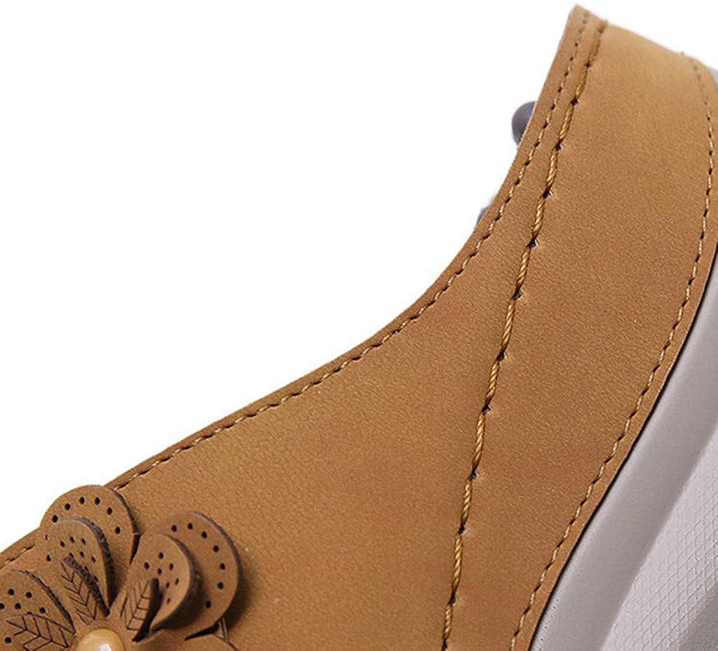 Dainzusyful Sandals for Women 2020 New Women Comfy Platform Flower Summer Beach Travel Shoes Hollow Flat Slipper