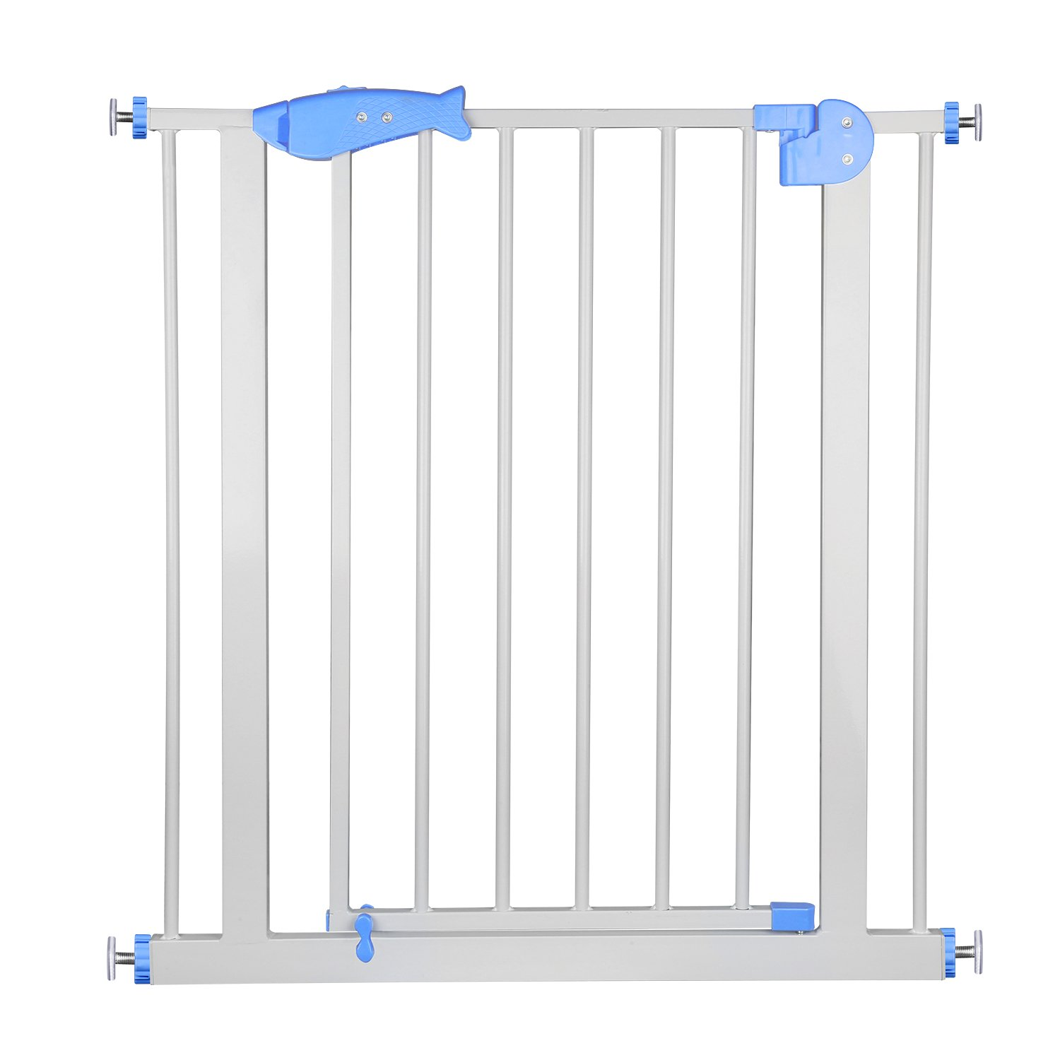 Auto Close Secure Tech Metal Gate Easy Open Walk-Thru Safety Gate Great for Pets and Children HH