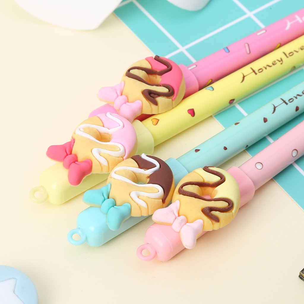Bduco 0,5/mm Kawaii Donuts effa/çable Stylo /à encre gel dencre noire stylos /école bureau papeterie Cadeau pour /étudiant