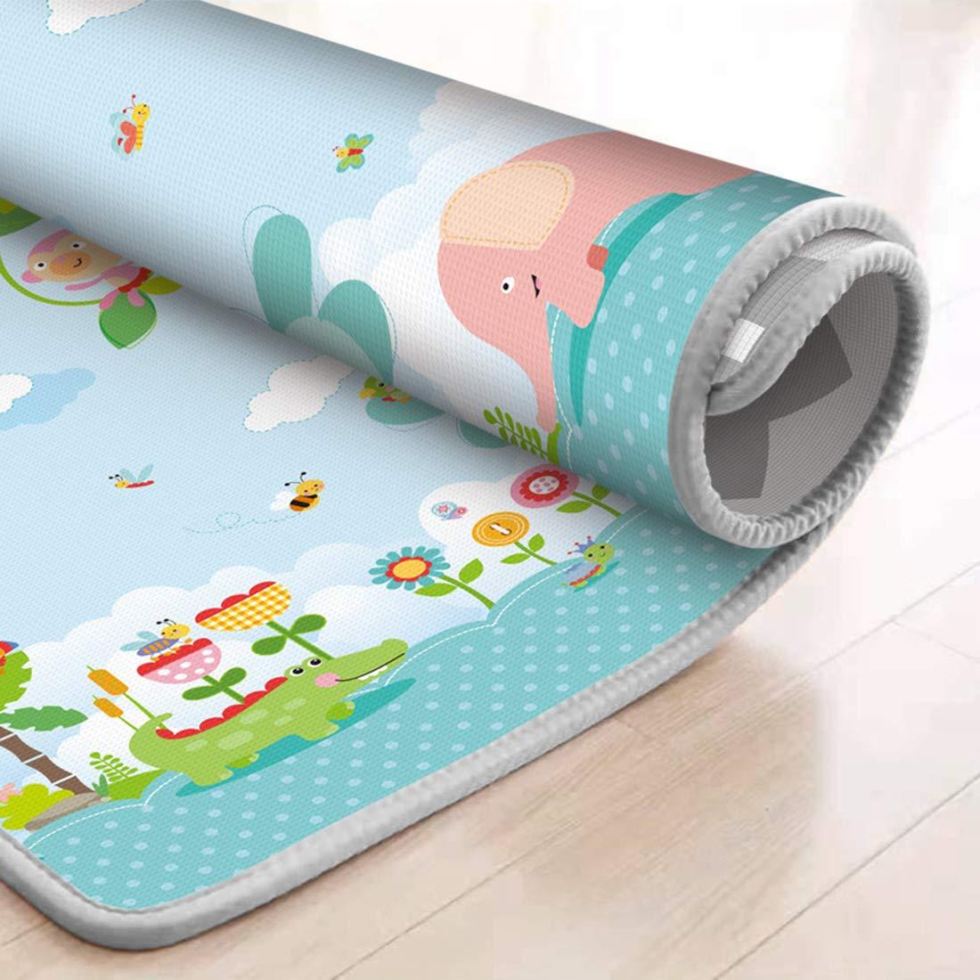 ZUJI Tappeto Bambini Tappeto Gattonamento Morbido Tappeto Gioco A Non tossico e Impermeabile 200 x 180 x 1 cm