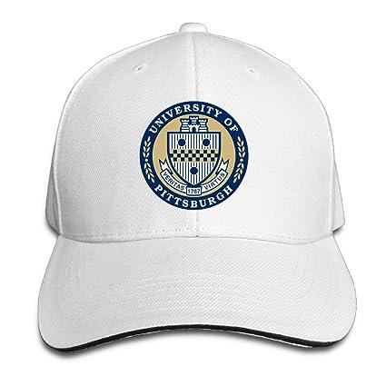 ACMIRAN University Of Pittsburgh PITT Funny Sandwich Baseball Caps One Size  White 7603d236750