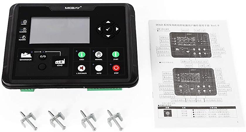 DC60D Generator Electronic Controller Module Control Panel  4.3 inch LCD Display