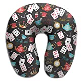 Funny Poker Pattern Super U Type Pillow Neck Pillow Outdoor Travel Pillow Relief Neck Pain