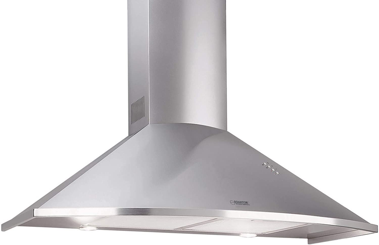 "Equator 36"" Made in Europe Wall Mount Range hood, Stainless, LED lights, 3 Speed, Timer with Auto Speed Reduction"