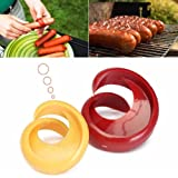 Chige 2 pcs Manual Fancy Sausage Cutter Spiral Barbecue Hot Dogs Cutter Slicer Kitchen Cutting Auxiliary Gadget Fruit…