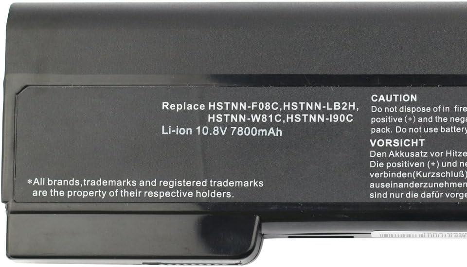 9 Zellen 10.8V 7800mah Laptop Akku f/ür HP Elitebook 8460p 8460w 8470p 8470w 8560p HP ProBook 6360b 6460b 6465b 6560b 6565b HSTNN-F08C QK642AA 628666-001 CC06 CC06XL BB09 Battery Batterie