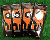 4 Zero Friction Men's Left Hand Universal Golf Gloves - Miami Dolphins - Orange