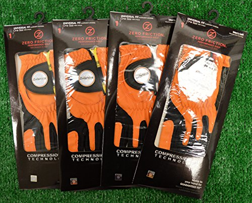 4 Zero Friction Men's Left Hand Universal Golf Gloves - Miami Dolphins - Orange by Friction