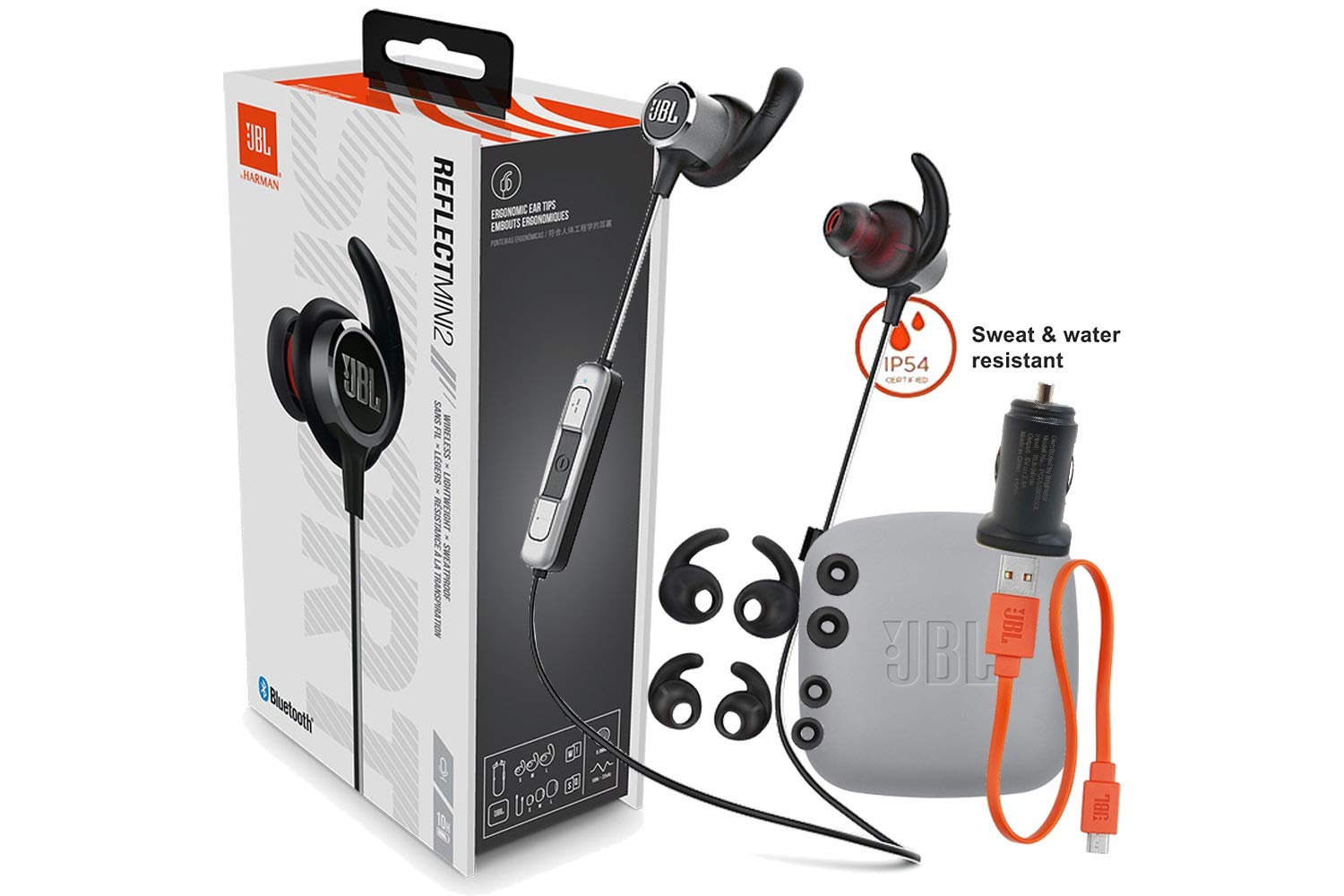 b7a38e2f Amazon.com: JBL Reflect Mini 2 By Harman - Wireless in-Ear Sport Headphones  with Three-Button Remote - Sweat Proof- Hamds-Free Calls- with Car Adapter  ...