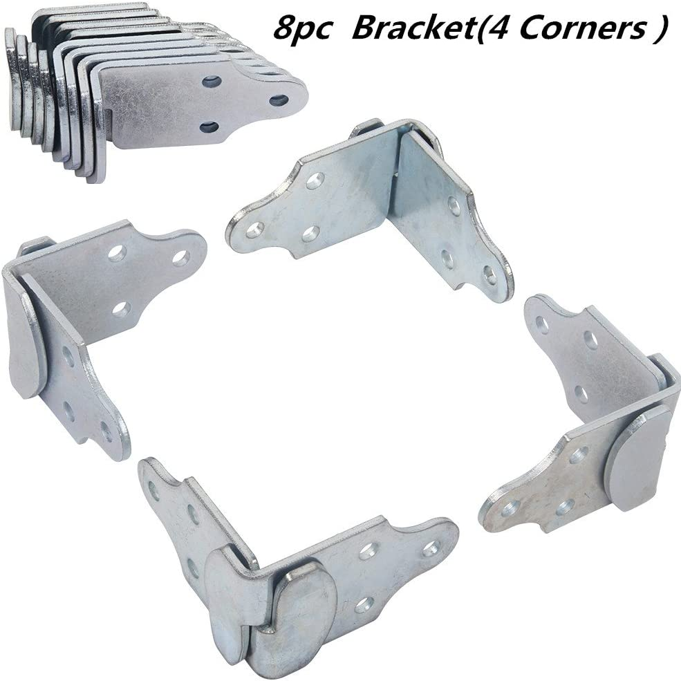 8 Pc Stake Trailer Rack Corner Connector Body Utility Wood Side Bracket Panel Gate Side Latch