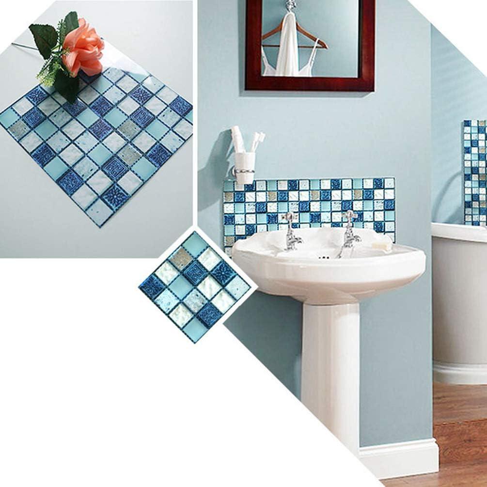 Baijiaye Vinilo Pegatina Muebles de Cocina Dise/ño de Mosaico Azulejos Pegatina de Pared Pegatinas de Azulejos Autoadhesivos para Ba/ño y Cocina Multicolor 10X10cm(3.93 3.93inch)