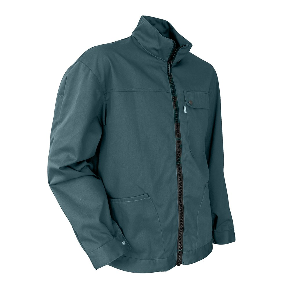 LMA 201517 EQUERRE Blouson Multipoches Col Montant, Vert, Taille 3 Lebeurre