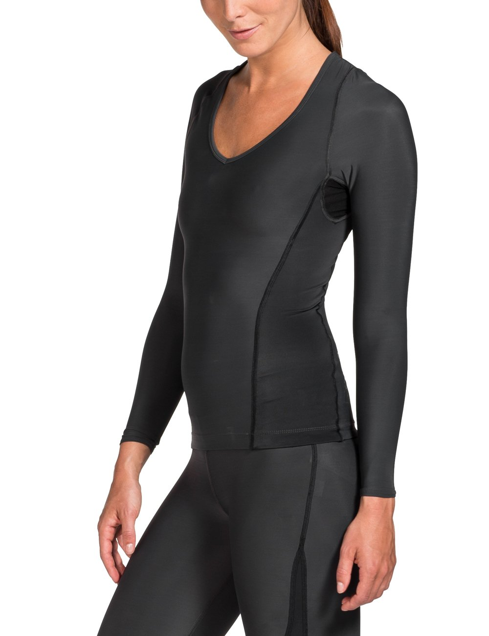 Skins Women's Ry400 Recovery Long Sleeve Top, Black, SmallH by Skins (Image #4)