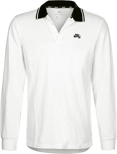 Nike SB - Camiseta de manga larga para seco Polo - Blanco ...