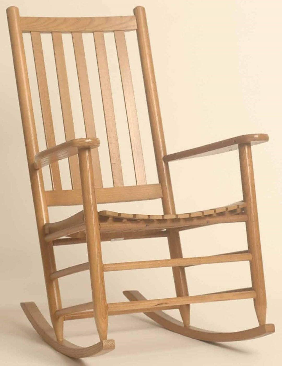 Dixie Seating Asheville Wood Adult Rocking Chair No. 95SRTA Coastal Purple Woodleaf Green