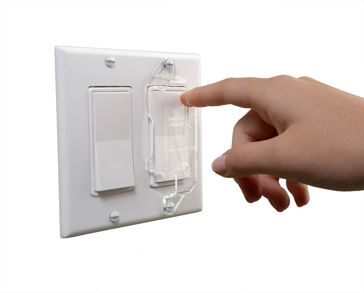 Dual Option Wall Switch Guards (3 Pack) Clear Rocker Style