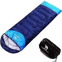 CAMEL Schlafsack 3 Jahreszeiten Portable Outdoor Wandern Camping Tools Gear, Compose zu Einem Doppel Schlafsack, mit Leichten Kompressions Sack für Kinder Männer Frauen