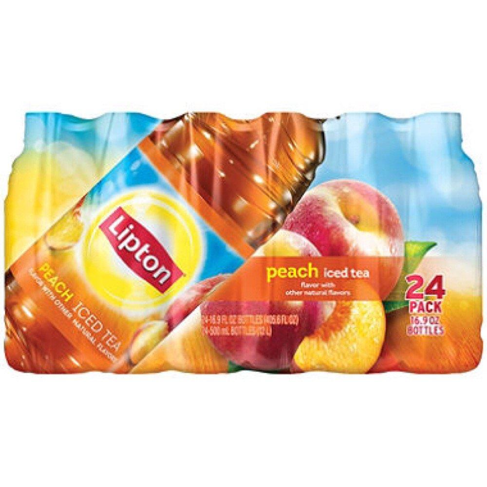 Lipton Peach Iced Tea, 16.9 oz Bottles (24 Pack)