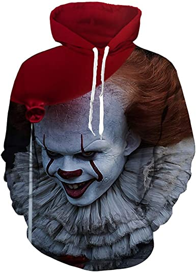 Women//Mens 3D Print Casual Hoodie Sweatshirt Pullover All Over Print Horror