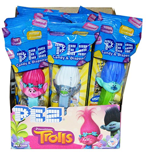 Trolls Pez Dispensers (Pack of 12) (Halloween Candy Party Favors)