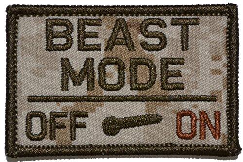 Beast Mode Activated 2x3 Morale Patch - Multiple Colors (Desert Digital Marpat)