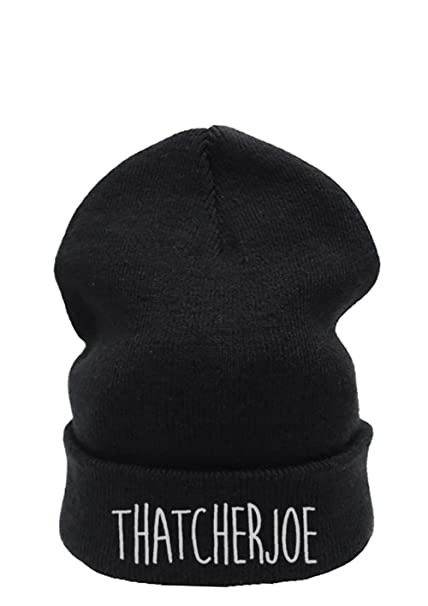 1afba05e34d Thatcherjoe Beanie Hat (Black beanie)  Amazon.co.uk  Clothing
