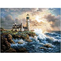 HOMYL Full Drill 5D Diamond Painting Kits Seascape Rhinestone Embroidery Home Wall Decorations 45x35cm