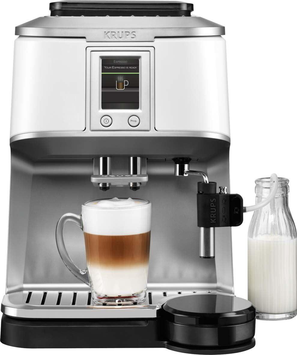 Krups EA8441 - Cafetera automática, 1450 W, 1.7 L, color blanco: Amazon.es: Hogar