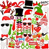 Toys : Joyin Toy 66 Pieces Christmas Photo Booth Props for Christmas Event Party Favors and Christmas Decorations Art Crafts.