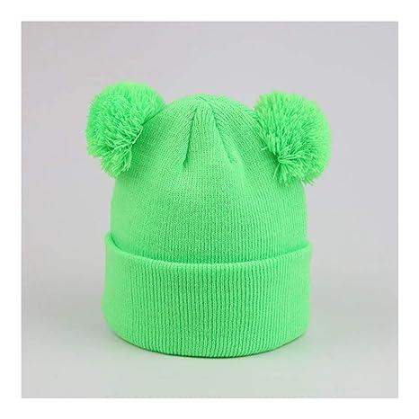 Haoliequan Per Bambini Due Cappelli Invernali Con Berretto Lavorato