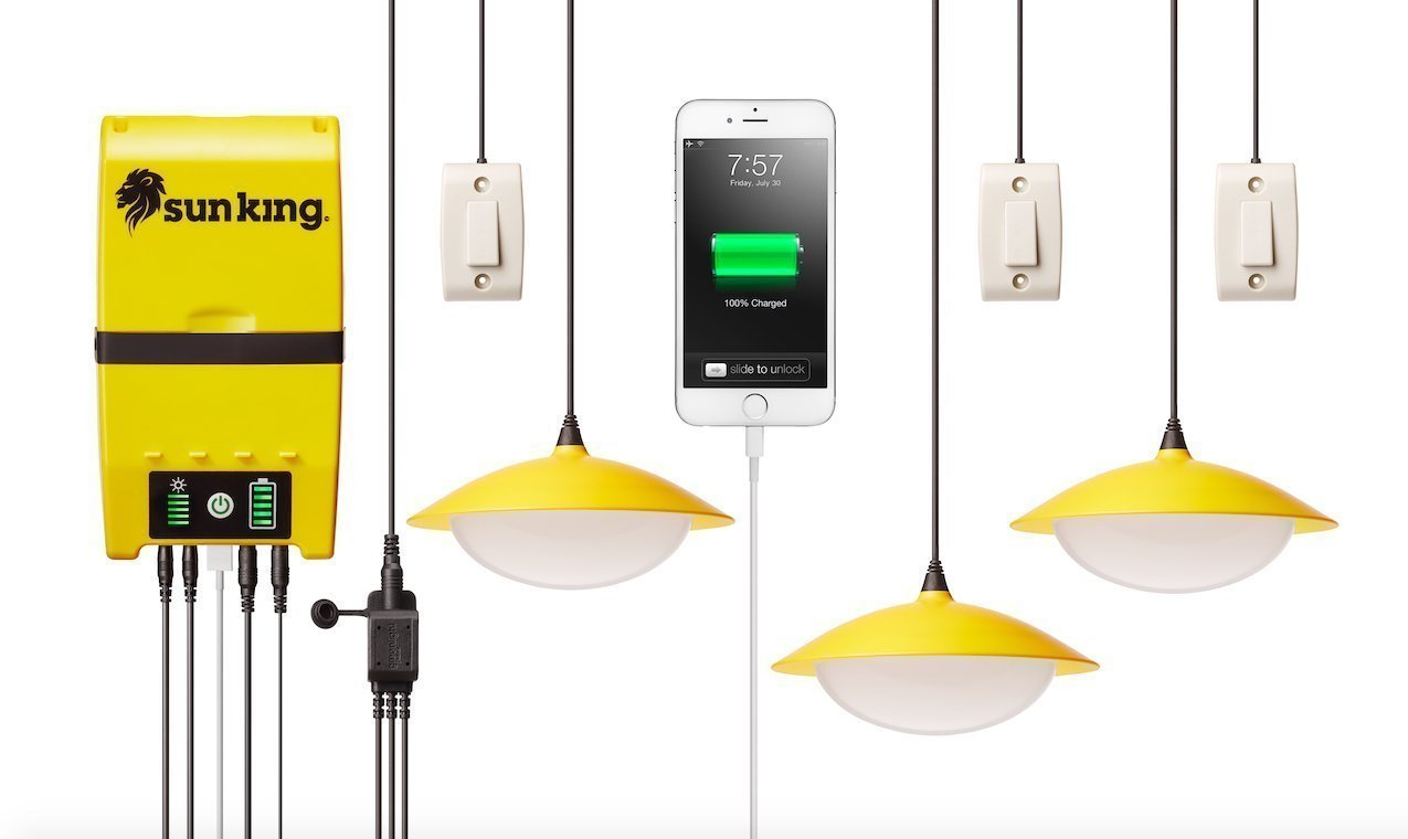 Greenlight Planet Home 120 Solar Lighting System Plus USB  Charger by Greenlight Planet