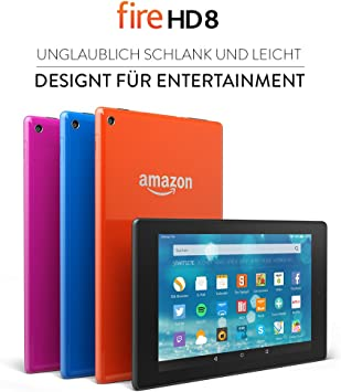 Fire Hd 8 Tablet 20 3 Cm 8 Zoll Hd Display Wlan 8 Gb Schwarz Mit Spezialangeboten Amazon Devices