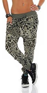 Sweatpant im Leo Design Baggy Jogginghose Boyfriend Jogging 3344 Damen One Size