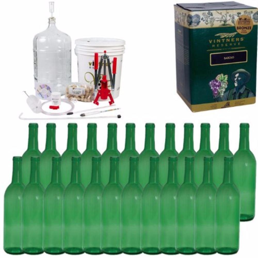 Complete Wine Package Equipment Kit w/ Double Lever Corker -Merlot