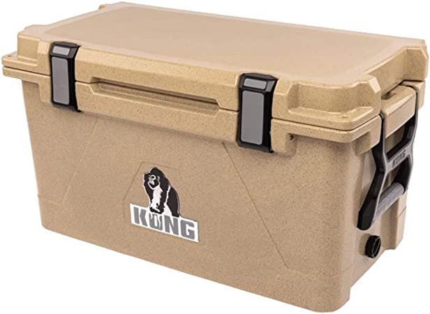 70 Quart Rotomolded Extended Ice Retention Cooler Proudly Made in The USA KONG Coolers No-Slip Feet Safe Durable Tactical Tan GR Series