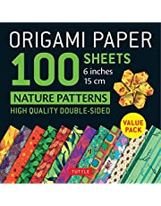"""Origami Paper 100 sheets Nature Patterns 6"""" (15 cm): Tuttle Origami Paper: High-Quality Origami Sheets Printed with 12 Different Designs (Instructions for 8 Projects Included)"""