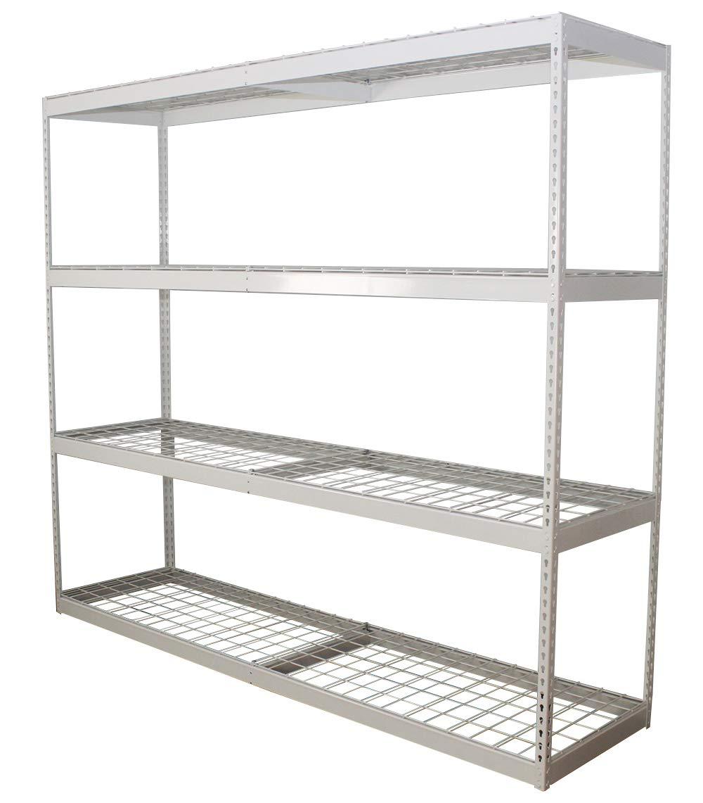 Amazon com saferacks freestanding shelf steel shelving unit 2d x 8w x 7t home kitchen