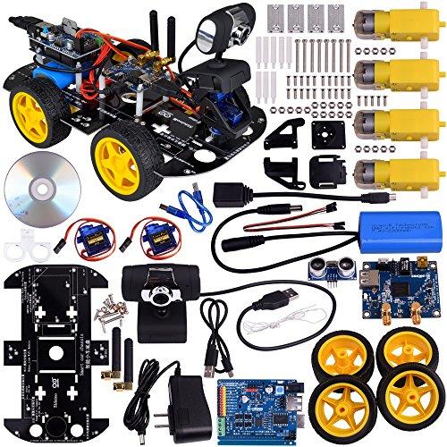 Kuman SM3 Wi-Fi Robot Car Kit for Arduino, 4 Wheel Utility V
