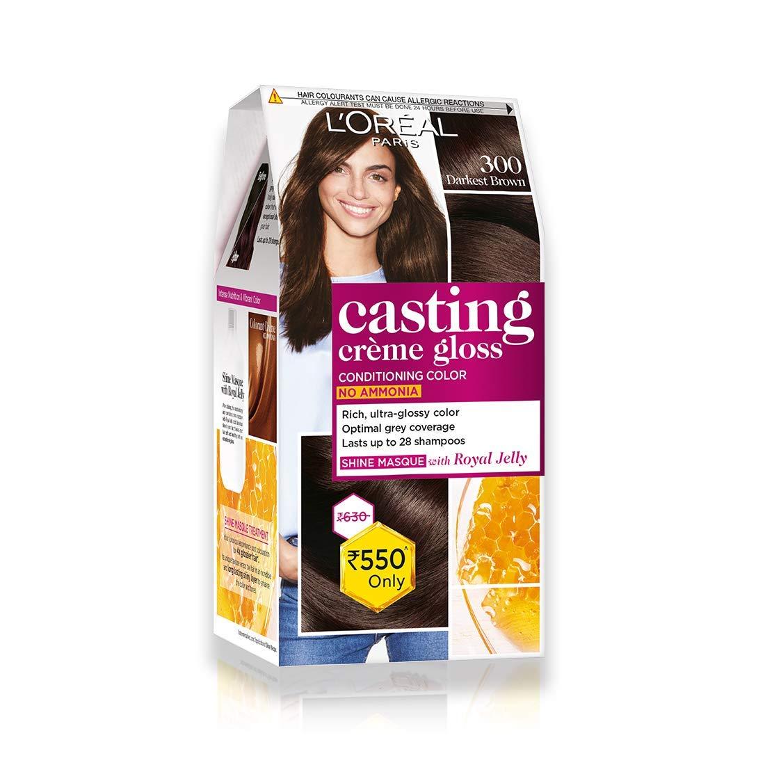 L'Oreal Paris Casting Creme Gloss Hair Color, Darkest Brown