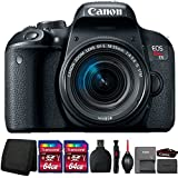 Canon EOS Rebel T7i 24.2MP DSLR Camera with 18-55mm IS STM Lens and Accessories
