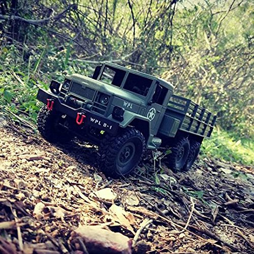 Amyove 2.4G Remote Control Military Truck 6 Wheel Drive Off-Road RC Car Model Remote Control Climbing Car Gift Toy Best Gift for Kids Army Green KIT